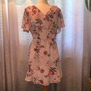 Maurices size 0 pink chiffon ruffle dress